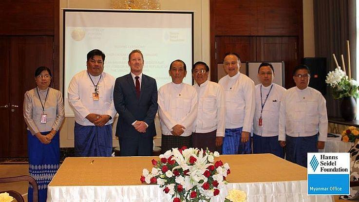 The ASEAN Affairs Department and HSS Resident Representive Achim Munz