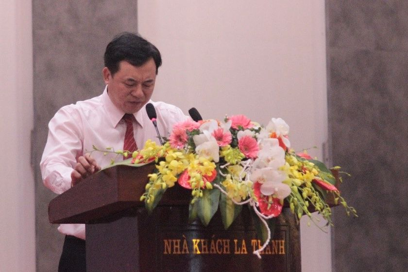 Dr. Mai Thanh Dung of ISPONRE gives his opening speech.