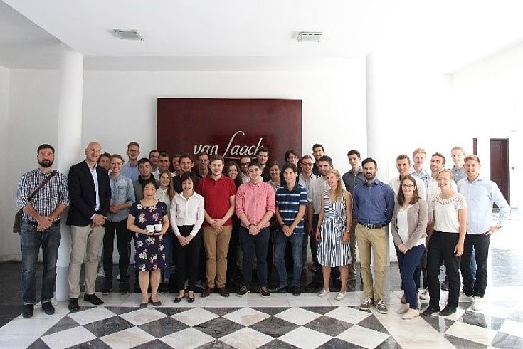 The Bayerische EliteAkademie visiting the Van Laack textile factory in company of Moritz Michel from the Hanns Seidel Foundation, Hanoi.
