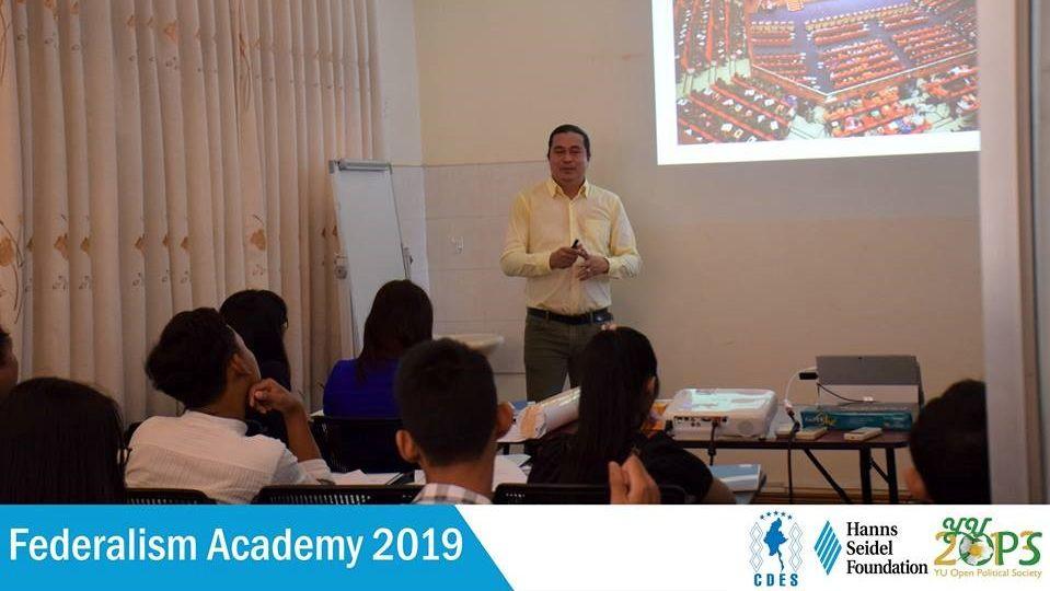Sai Kyaw Nyunt giving a lecture