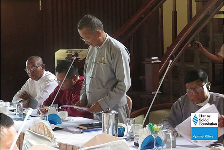 H.E. U Ohn Maung gave a final speech at the end of the 2 days workshop informing the attendants and media about the future plans of the Ministry. Also he said that there is no airport extension in Thandwe until the trash is slashed.
