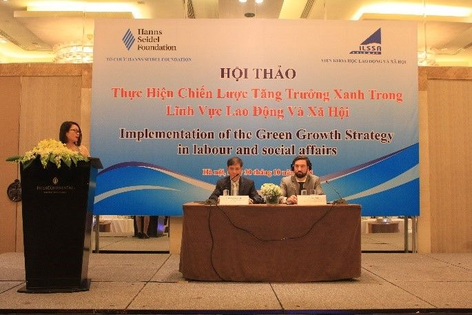 Moritz Michel, Deputy Director of the Hanns Seidel Foundation and Dr. Đao Quang Vinh, Director of ILLSA