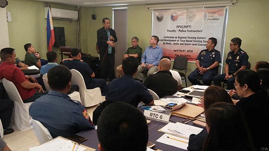Philippine Public Safety College (PPSC) President Ricardo De Leon addressing the participants
