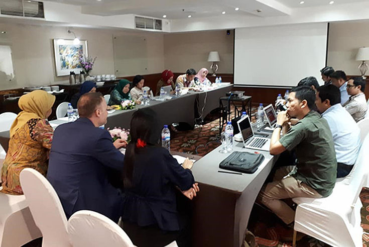 Photo of participants during discussion