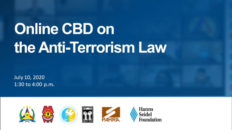 CBD on the Anti-Terrorism Law of 2020 held online