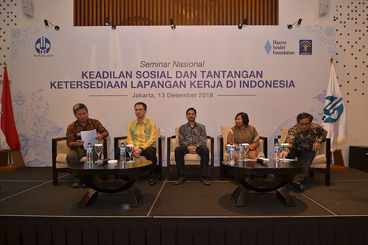 The expert panel discussed social justice, equality and the job market for Indonesian workers.