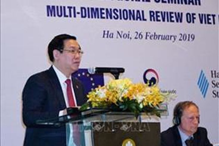 Deputy Prime Minister Vuong Dinh Hue delivered the opening speech.