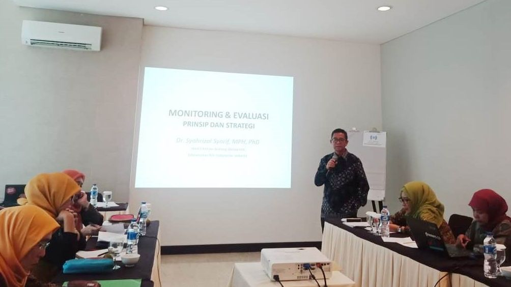Dr. Syahrizal Syarif, Vice Rector of NU University Indonesia delivered input on monitoring and evaluation