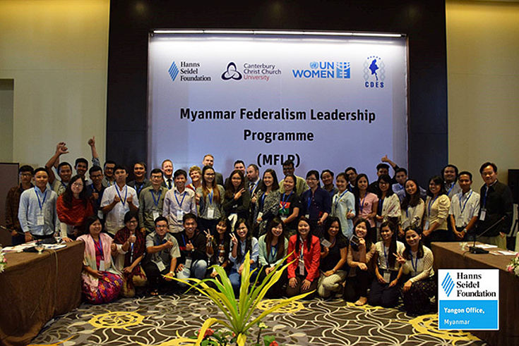 Participants and experts of the first Myanmar Federalism Leadership Programme (MFLP)