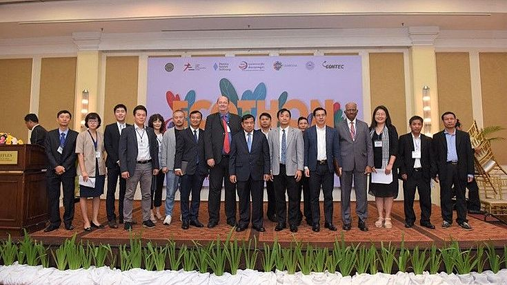 H.E. Son Seng Huot, Under-Secretary of State, Cambodian Ministry of Industry and Handicraft, and resource persons