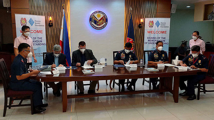 Partnership between the Philippine National Police and the Hanns Seidel Foundation