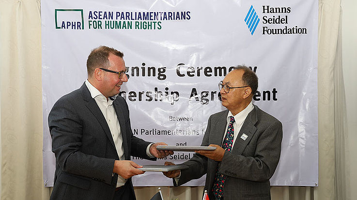 APHR Signing Ceremony of Partnership Agreement