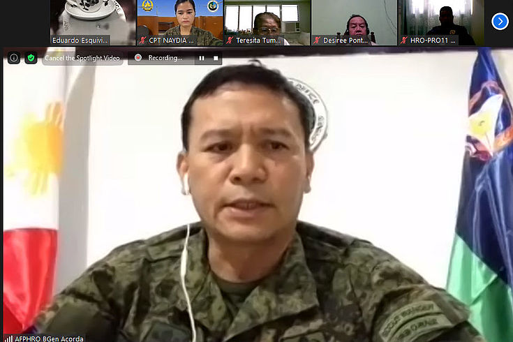 Brig. Gen. Raymundo Acorda delivers his opening remarks