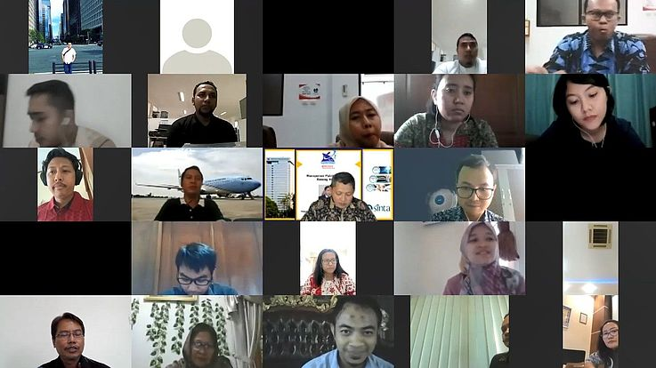 HSF and Indonesian Ministry of Law and Human Rights held a Virtual Workshop regarding Scientific Research in E-Journals